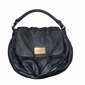 Marc Jacobs Leather Shoulder Bag Black Pebbled